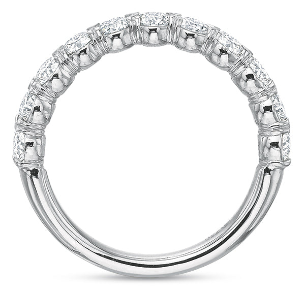 1 CTW Half-Band Flush-Fit Ring