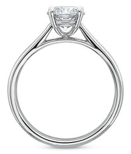 Load image into Gallery viewer, 4-Prong Low-Profile Solitaire Diamond Ring