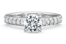 Load image into Gallery viewer, .27 CTW 4-Prong Low-Profile Engagement Ring