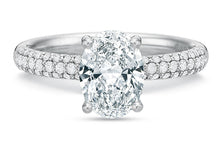 Load image into Gallery viewer, .35 CTW Comfort-Fit Pavé Engagement Ring