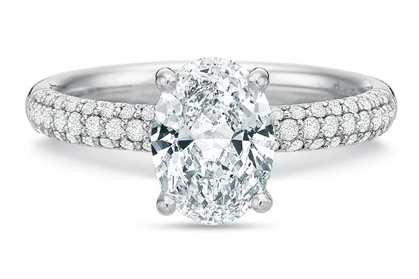 .35 CTW Comfort-Fit Pavé Engagement Ring