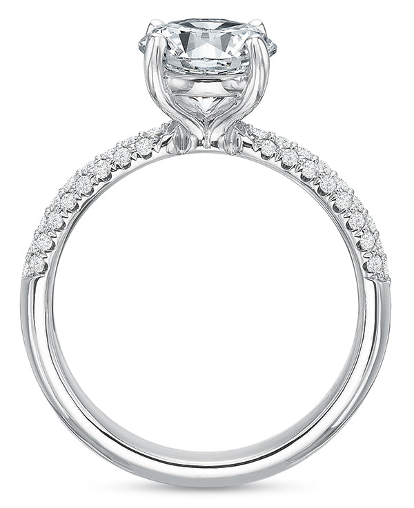 .35 TDW Comfort-Fit Pavé Engagement Ring