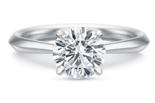 Load image into Gallery viewer, Claw 4-Prong Low-Profile Solitaire Diamond Ring