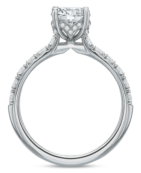 .50 CTW Modern Diamond Prong Engagement Ring