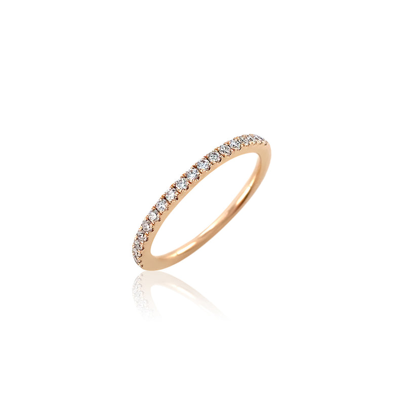 Diamond Pavé Band — .22 Carats in 14k Rose Gold
