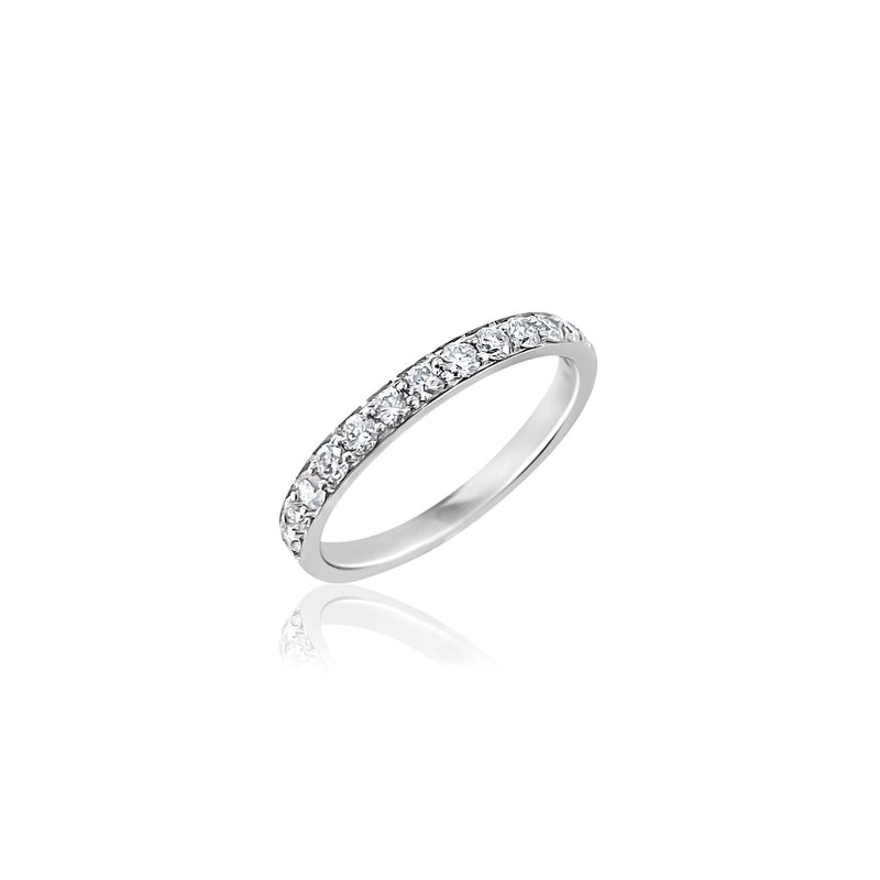 Half Carat Diamond Band in 18k White Gold