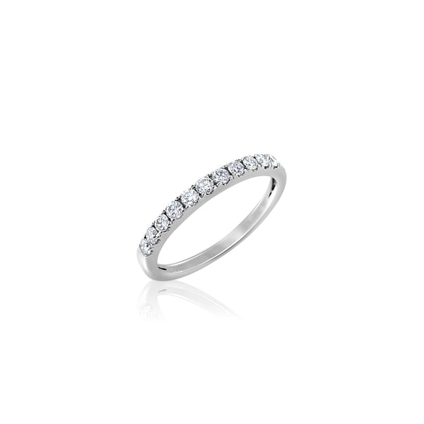 Diamond Band — .31 Carats in 14k White Gold