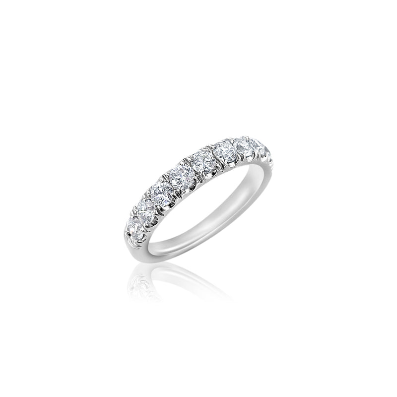 Diamond Band 18k White Gold