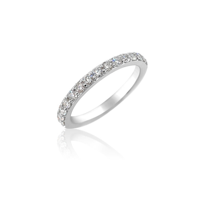 San Antonio Jewelry 18k white gold diamond wedding band.