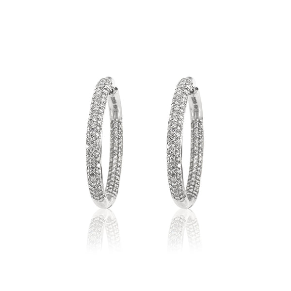 Diamond Statement Hoops — 4.96 Carats in 19k White Gold