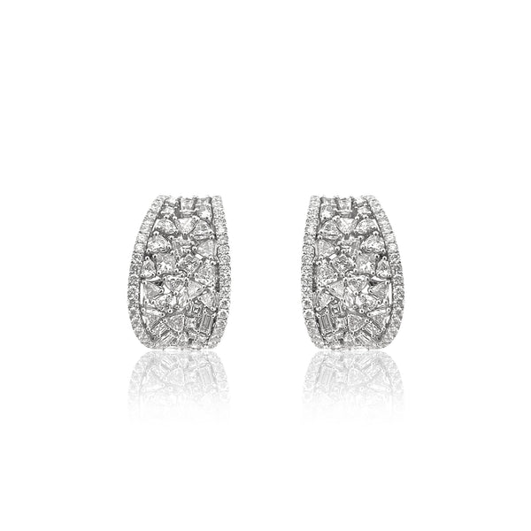 San Antonio Jewelry diamond cluster statement earrings.
