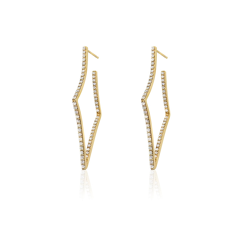 Diamond Dangle Earrings — 1.62 Carats in 14k Yellow Gold