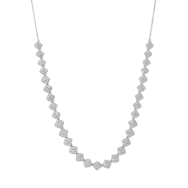 San Antonio Jewelry diamond necklace in 18k white gold.