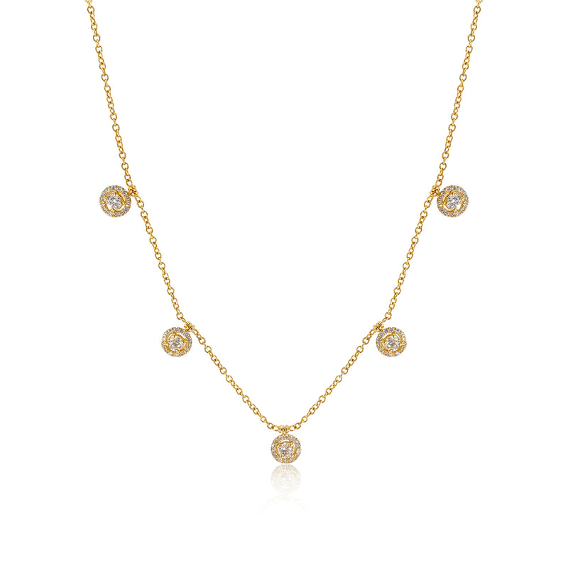 San Antonio Jewelry diamond necklace in 18k yellow gold