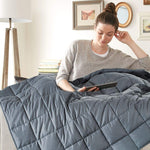 Adult Weighted Cotton Blanket Adult Full Size- Quilted - J Infinite