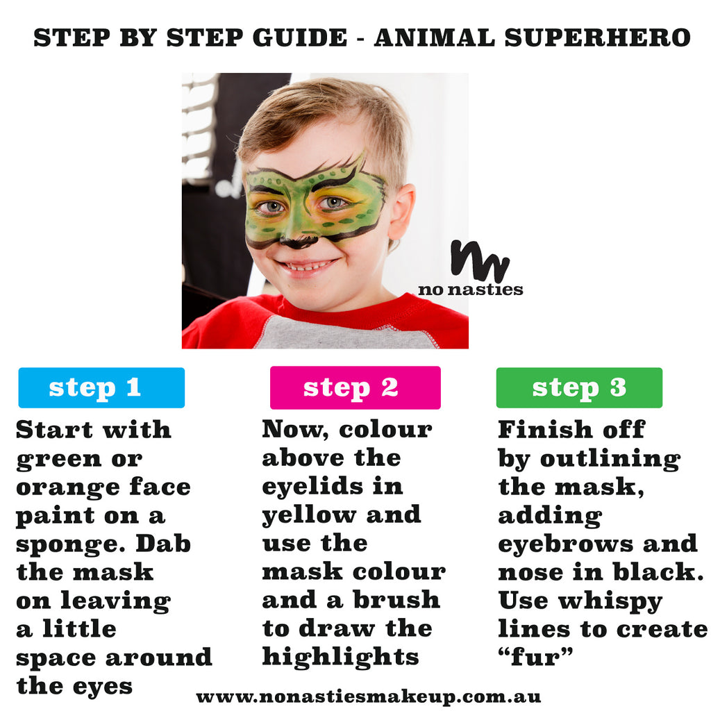 Superhero Facepainting Guide