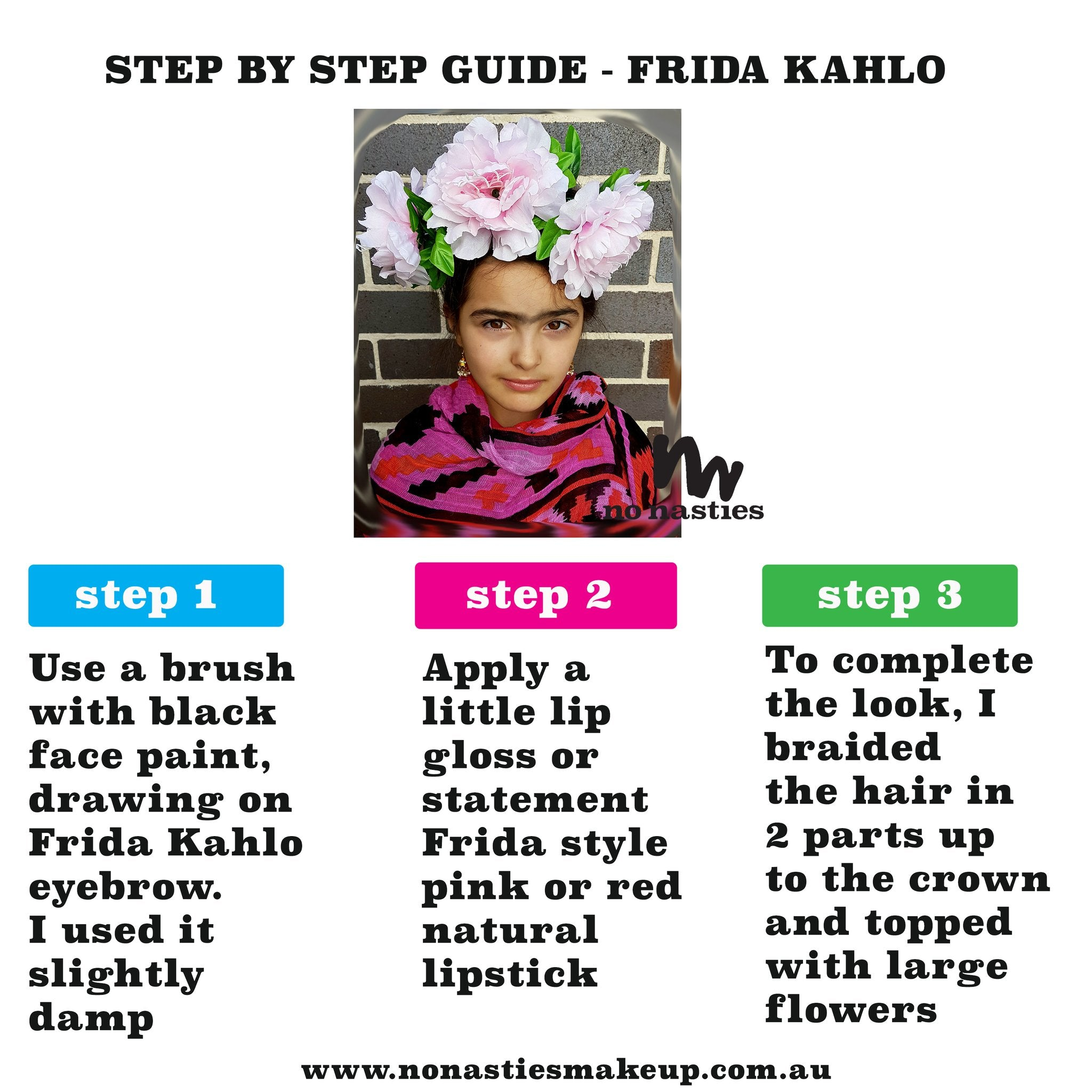 face paint guide for Frida
