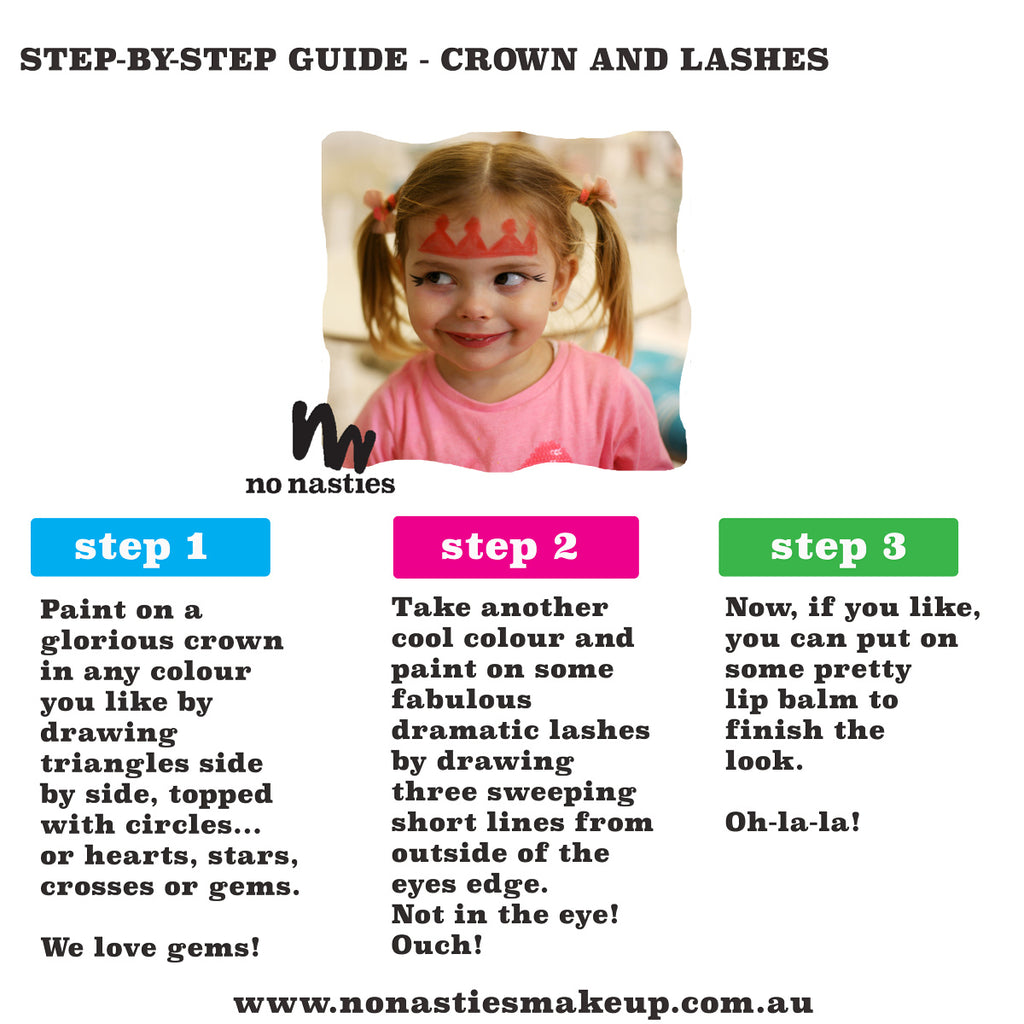 Childrens facepainting guides