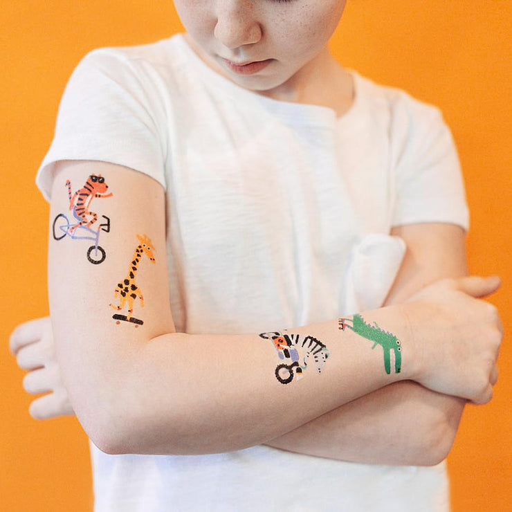 The Go Go Animals Set  - 8 Tattoos | TATTLY