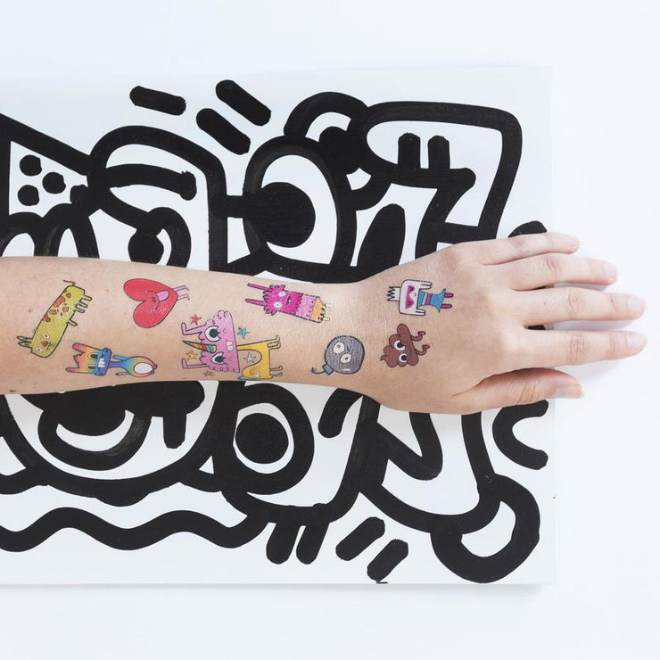 Happy Doodles Set - 8 Tattoos | TATTLY