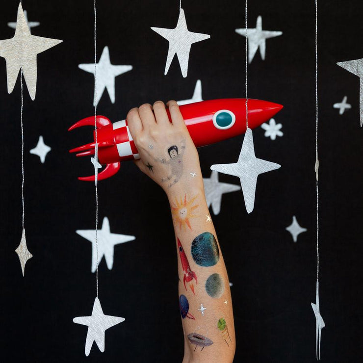 Space Explorer Set  - 8 Tattoos | TATTLY