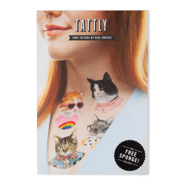 The Cat Club Set - 8 Tattoos | TATTLY