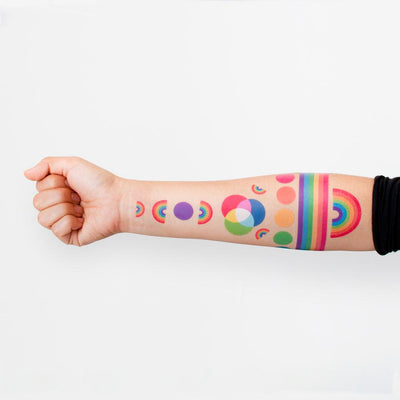 The Rainbow Set  - 8 Tattoos | TATTLY