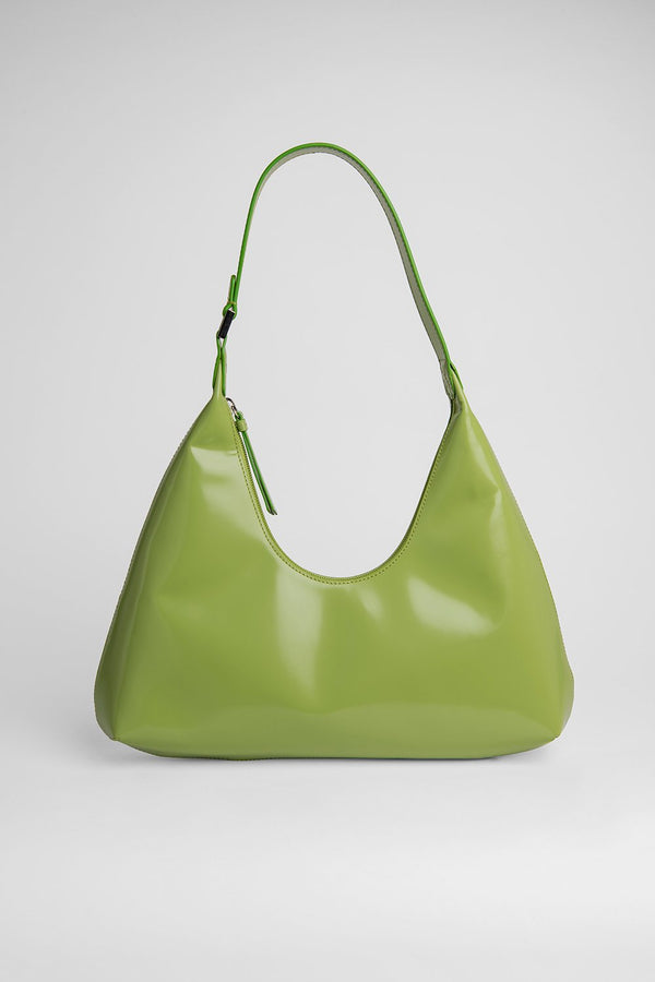 Amber Green Lime Leather Bag - BY FAR