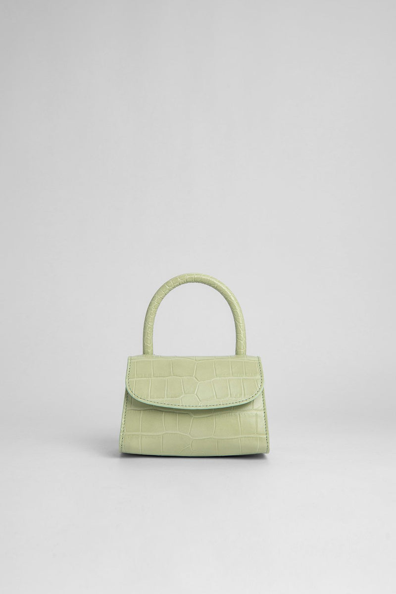 Mini Sage Croco Bag - BY FAR