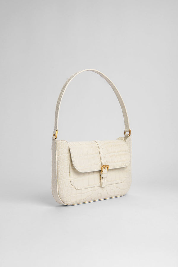 Miranda Cream Croco Bag - BY FAR