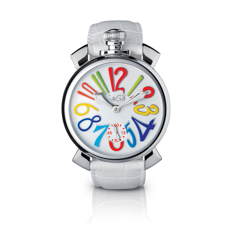 Manuale 48mm White - Steel - GaGà Milano