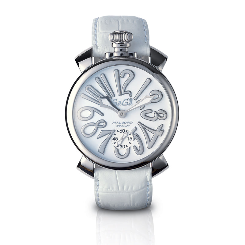 Manuale 48mm Total White - Steel - GaGà Milano