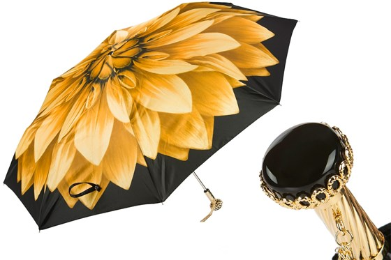 Golden Flower Folding Umbrella - PASOTTI