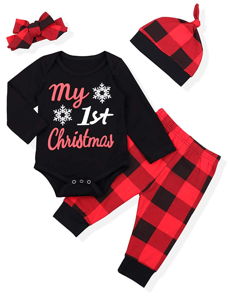 244614f5a Newborn Baby Boy Girl Clothes Little Man Long Sleeve Romper,Plaid Pants +  Cute Hat