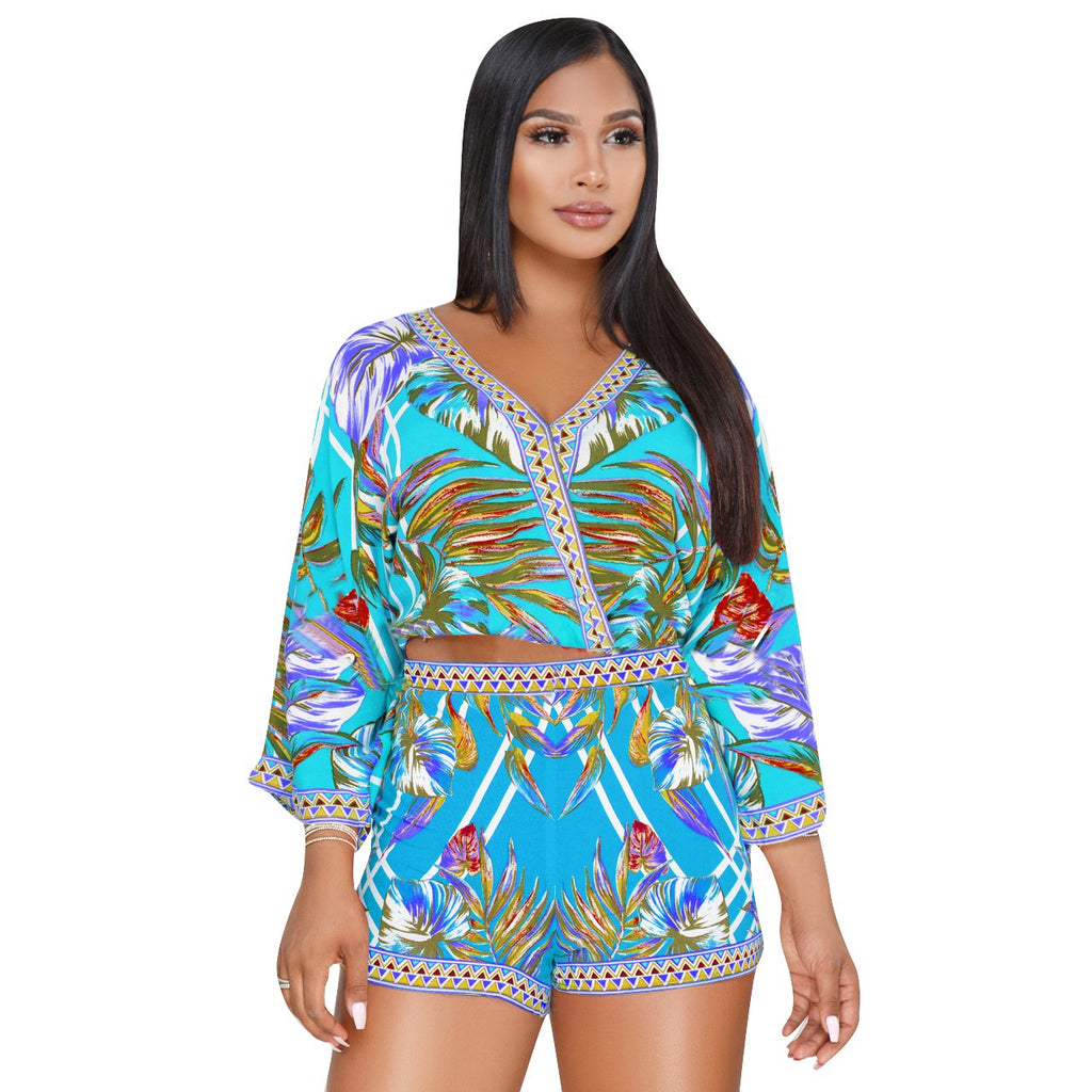 169572f683 Rompers for Women Summer Sexy Short Jumpsuit African Floral Vacation Club  Outfit