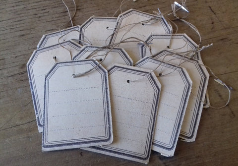 10 Vintage Tags for Fabric Pricing - simplyfrenchvintage