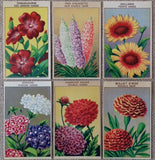 Vintage French Seed Packet Labels Flowers
