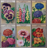 Antique Seed Packet Labels Flowers