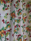 1950s Fruit Pattern Curtain - simplyfrenchvintage