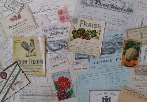 23 pieces French Ephemera - simplyfrenchvintage