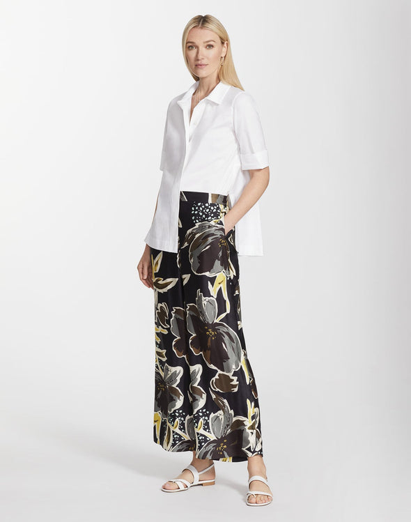 Poppy Print Sheen Ankle Riverside Pant