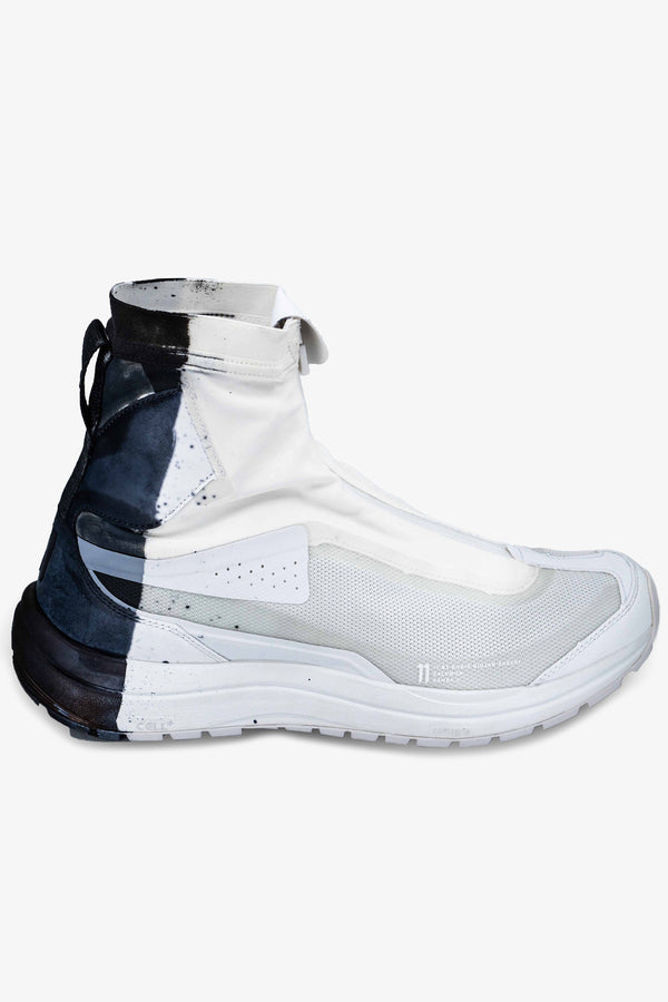 BAMBA 2 HIGH | WHITE WITH BLACK DIP | Uniden - The Techwear Collective