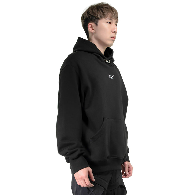 LOCK LOGO OVERSIZED HOODIE | Uniden - The Techwear Collective