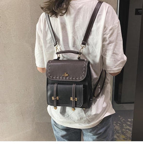 Luna Vintage Leather Backpack