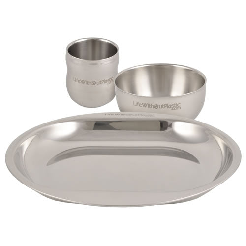 Stainless Steel Mealtime Set (3 piece - by Life Without Plastic)