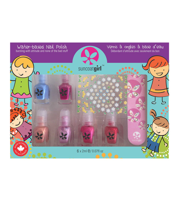 Suncoat Nail Polish 6 piece mini set