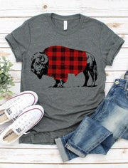 Buffalo Plaid Graphic Tee | S-XL
