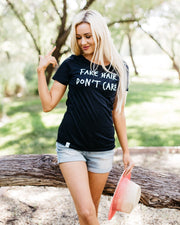 Fake Hair Don't Care Graphic T-Shirt | S-2XL