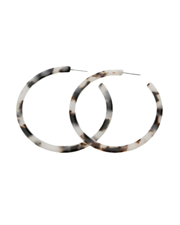 Piper Tortoise Hoop Earrings