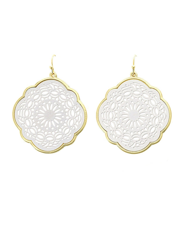 Cora Filigree Quatrefoil Earrings
